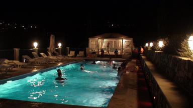 relais du peyloubet pool the night